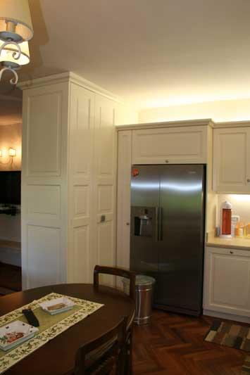 Copertura del muro divisorio tra cucina 7