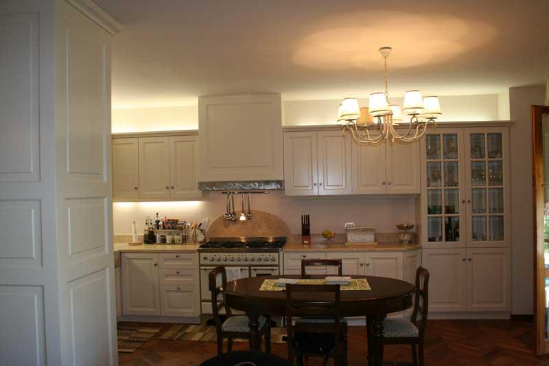 Copertura del muro divisorio tra cucina